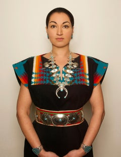 Native American Woman, contemporary, photography, selfportraiture, turquoise
