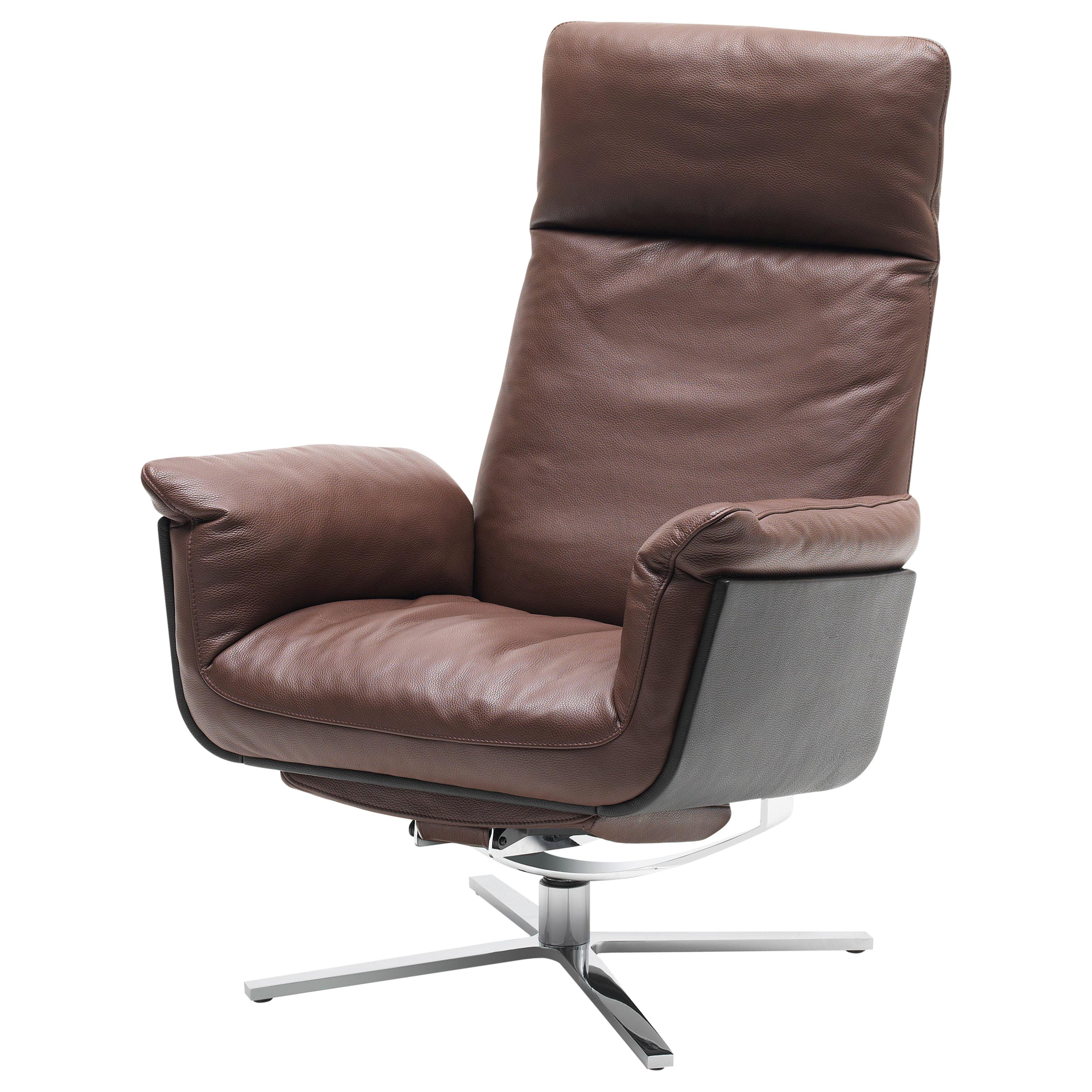 Shelby Adjustable Swivel Leather Armchair by FSM
