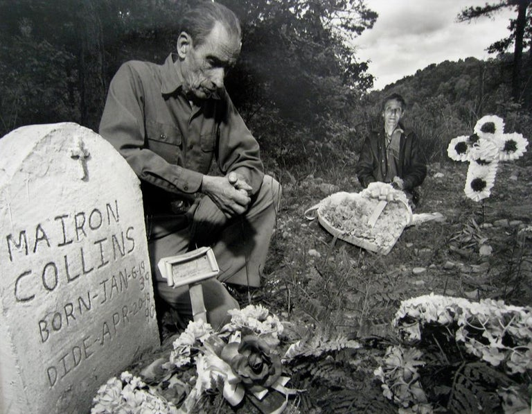 Shelby Lee Adams Portrait Photograph - Brothers at Bother's and Mother's Grave