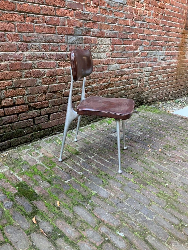Mid-Century Modern Shelby Williams Cast Aluminum Gazelle Chair For Sale