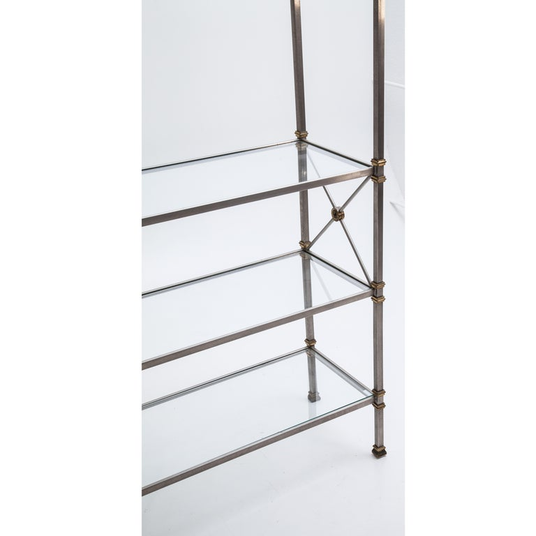 Metal Shelf in the Style of Maison Jansen, France, 20th Century For Sale