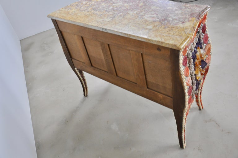 Shell and Stone Chest of Drawers For Sale 2
