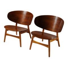 Shell Chairs FH-1936 Designed by Hans Wegner for Fritz Hansen, Denmark, 1948