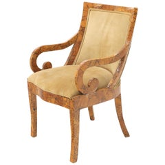 Shell Chips Finished Regency Style Chair
