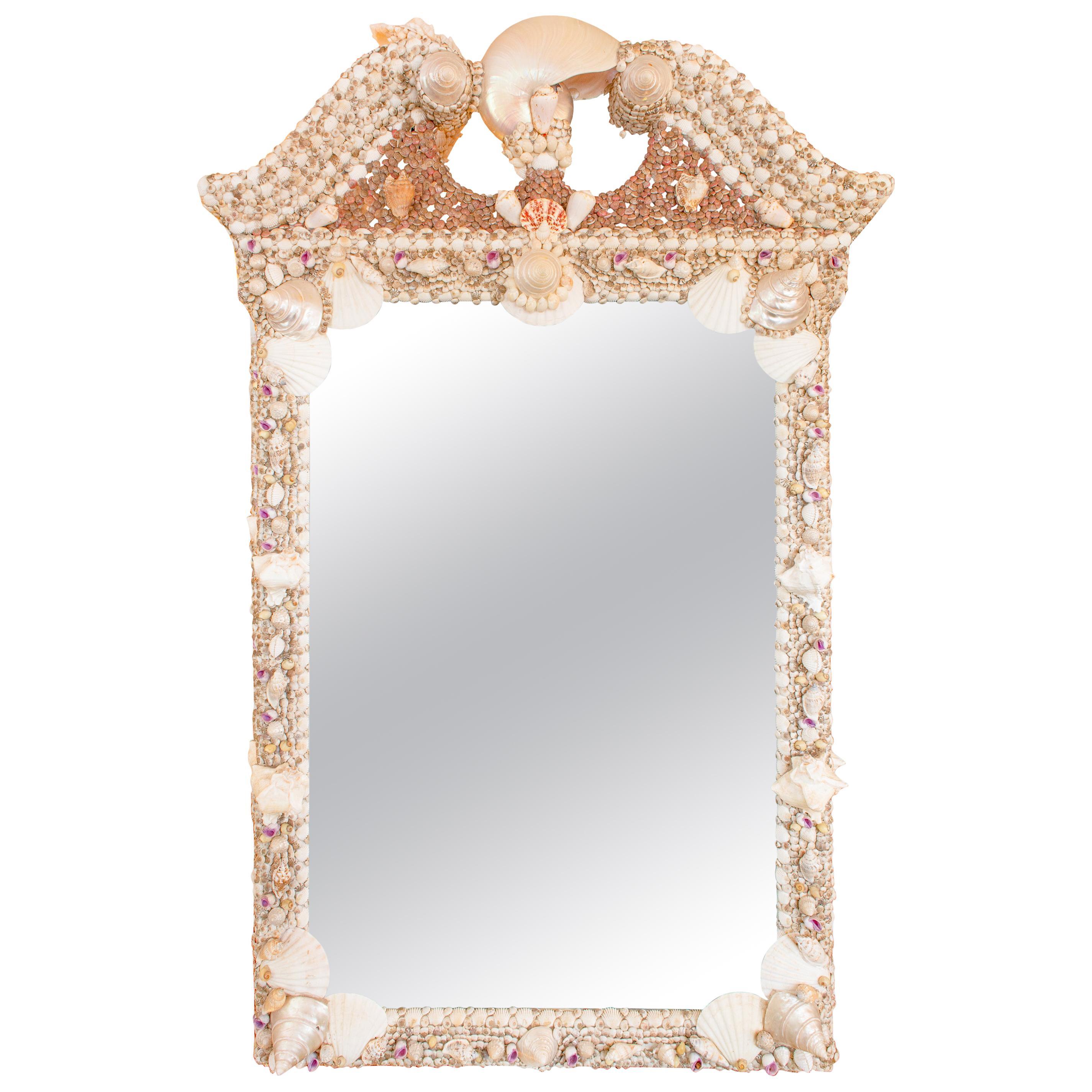 Shell Encrusted Broken-Pediment Mirror