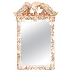"Shell Encrusted ""Broken-Pediment Style"" Mirror"