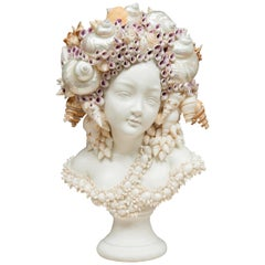 Shell Encrusted Bust of a Lady
