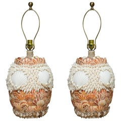 Shell Encrusted Table Lamps