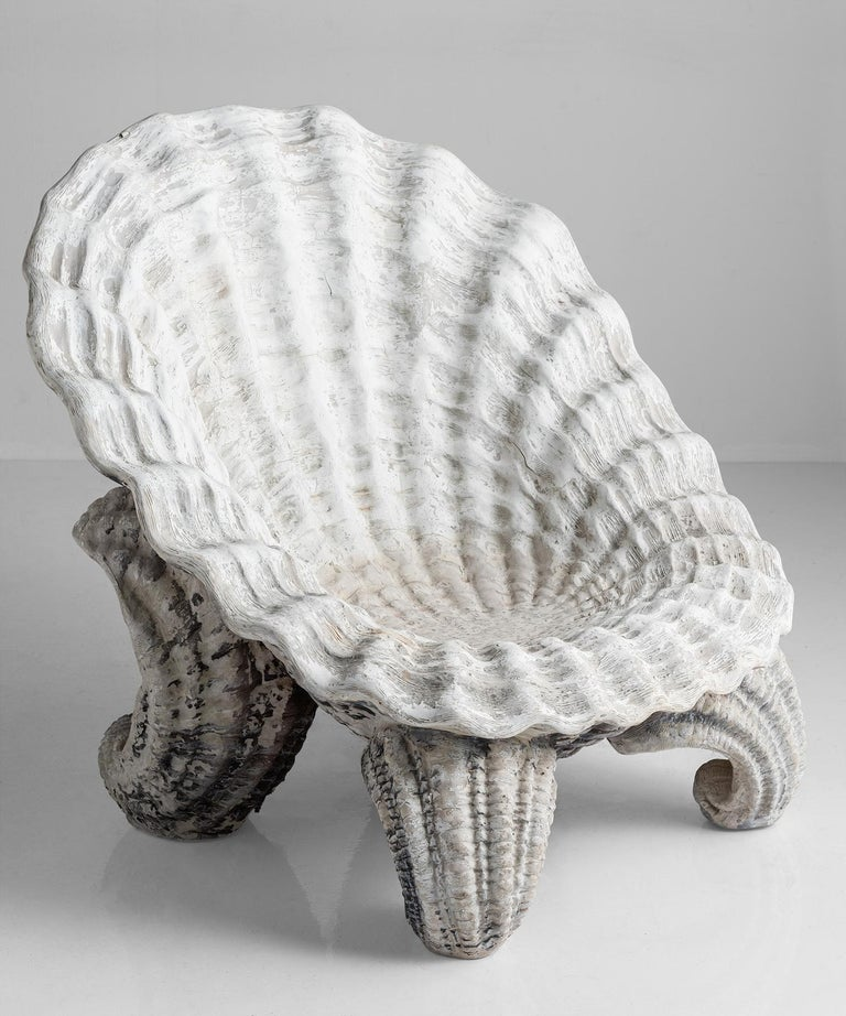 Shell grotto garden chair, 20th century
