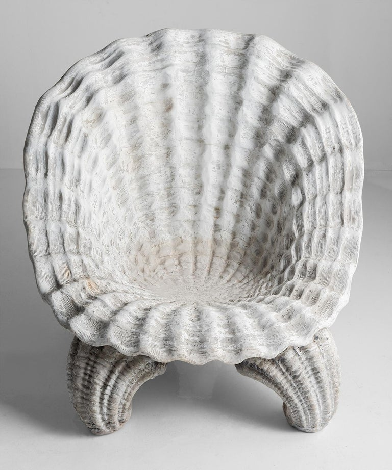 Shell Grotto Garden Chair, 20th Century In Good Condition In Culver City, CA