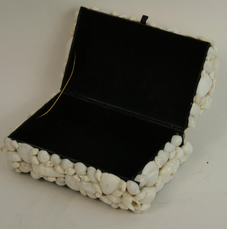 Shell Trinket Box In Good Condition For Sale In Douglas Manor, NY