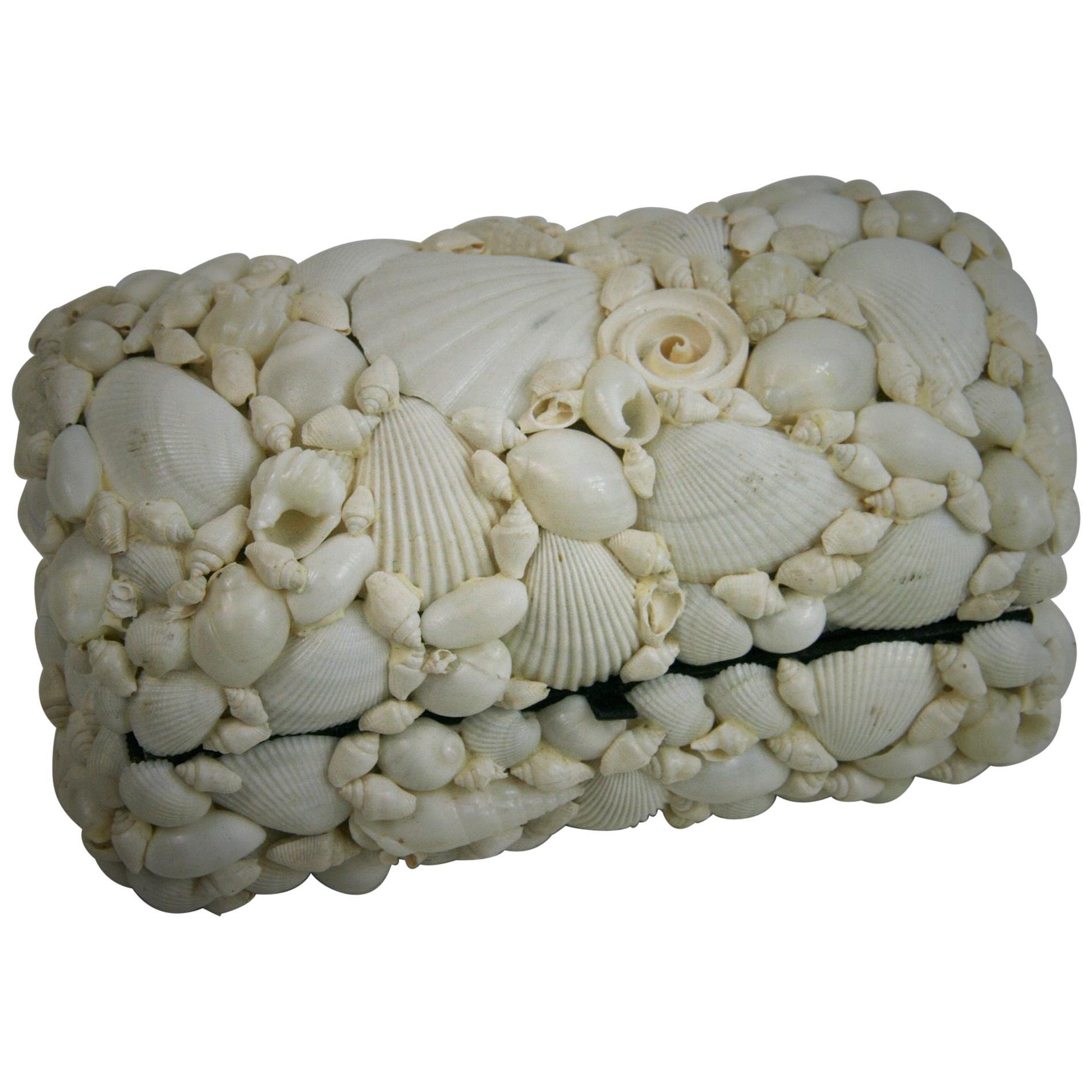 Shell Trinket Box/Folk Art