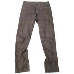 SHELLAC Size 32 Charcoal Dyed Denim Jeans