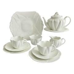 """Shelley """"Dainty White"""" Tête-à-Tête Porcelain Tea Service, 1910-1966"""