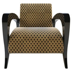Shelly Black and Yellow Armchair by Giannella Ventura
