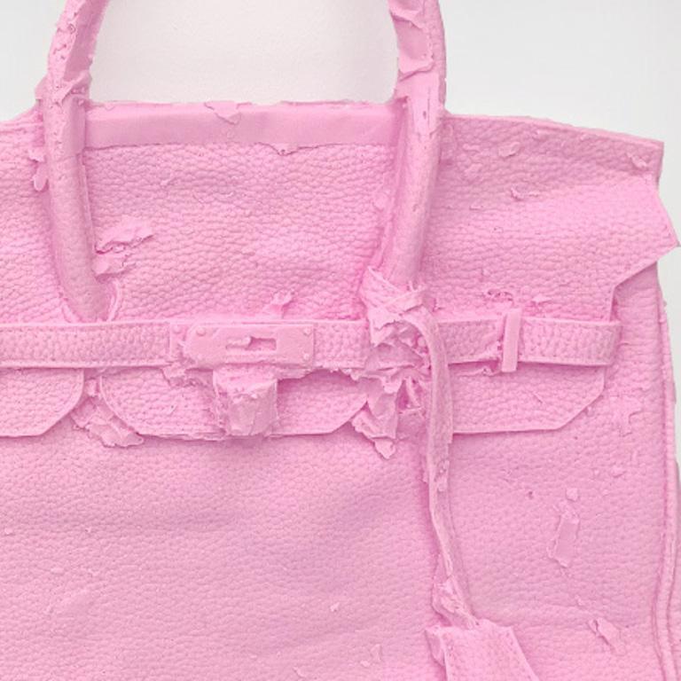 Homemade Hermes Birkin Bag ( Pink ) 2015 by Shelter Serra For Sale 1
