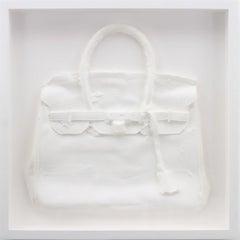 Homemade Hermes Birkin Bag (White), 2015, by Shelter Serra