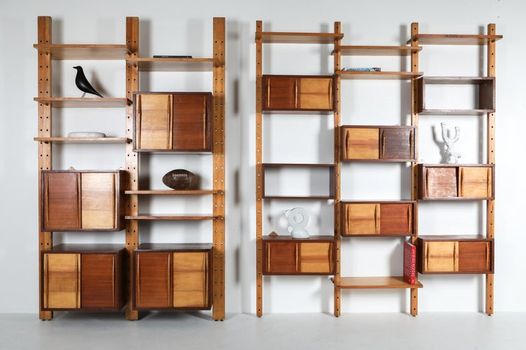 Shelve System France 1970s Inspired by Perriand, Le Corbusier For Sale 4