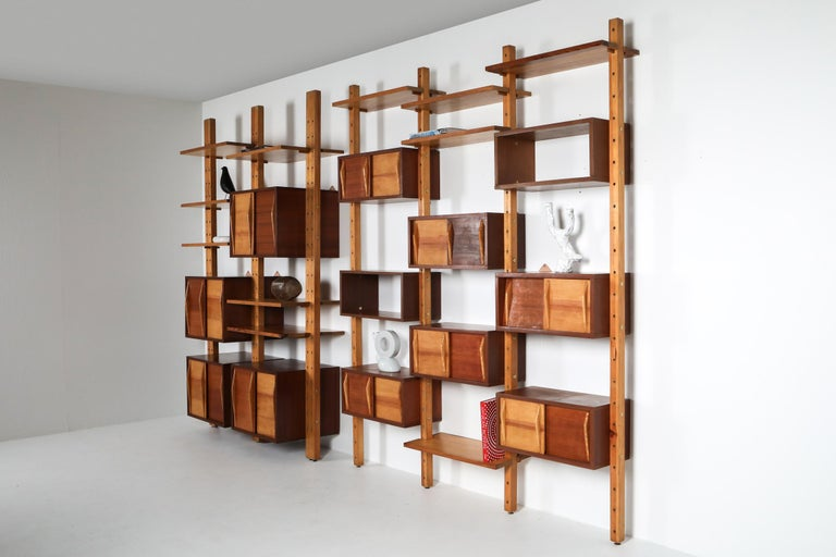 Shelve System France 1970s Inspired by Perriand, Le Corbusier For Sale 5