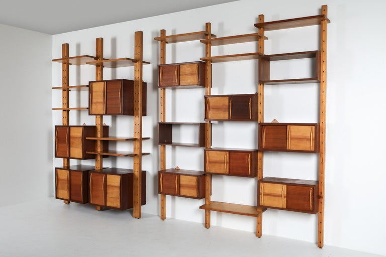 Shelve System France 1970s Inspired by Perriand, Le Corbusier For Sale 7