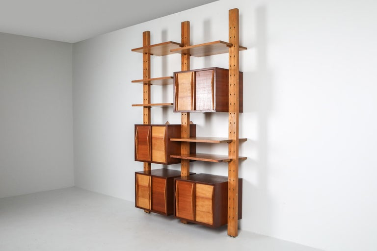 French Shelve System France 1970s Inspired by Perriand, Le Corbusier For Sale