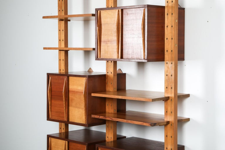Shelve System France 1970s Inspired by Perriand, Le Corbusier In Excellent Condition For Sale In Antwerp, BE