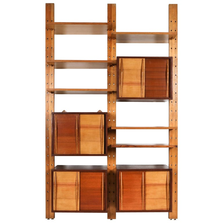 Shelve System France 1970s Inspired by Perriand, Le Corbusier For Sale