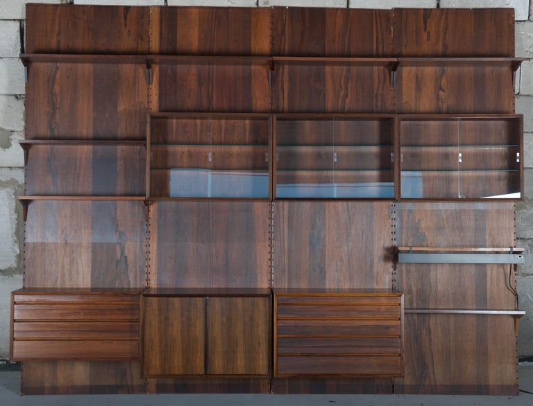 Mid-Century Modern Shelving System Wall Unit by Poul Cadovius For Sale