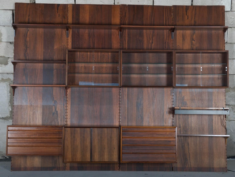 Danish Shelving System Wall Unit by Poul Cadovius For Sale