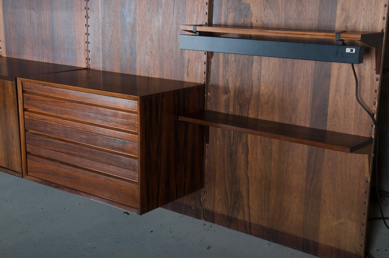 Shelving System Wall Unit by Poul Cadovius In Fair Condition For Sale In Vienna, AT