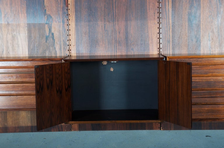 Mid-20th Century Shelving System Wall Unit by Poul Cadovius For Sale