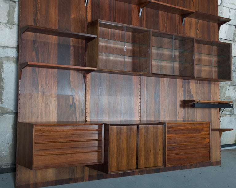 Shelving System Wall Unit by Poul Cadovius For Sale 2
