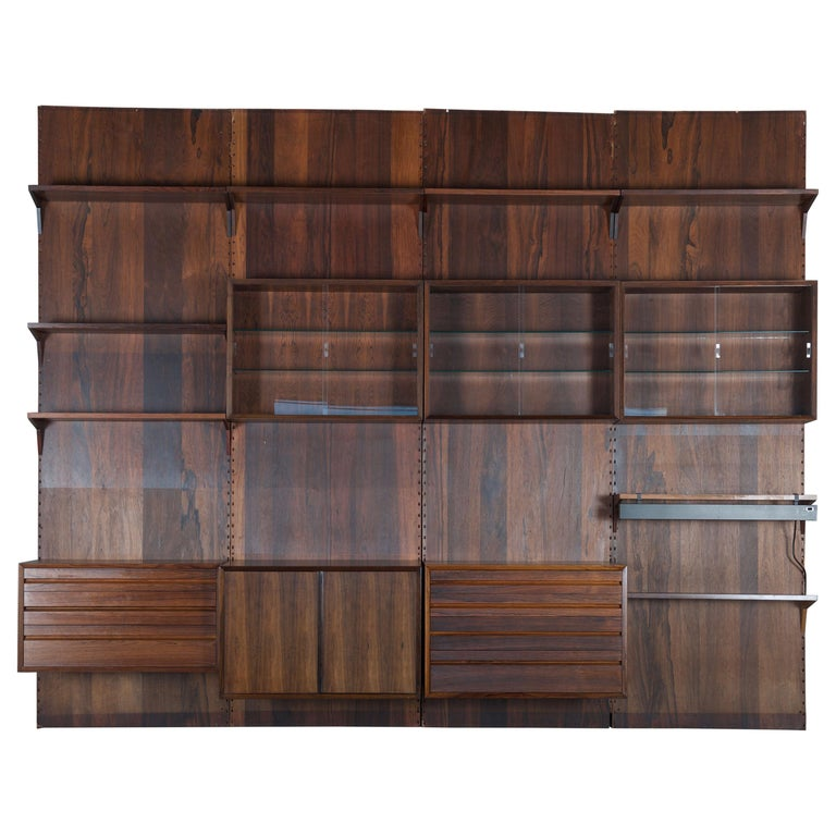 Shelving System Wall Unit by Poul Cadovius For Sale