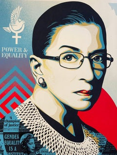 A Champion of Justice Ruth Bader Shepard Fairey Print Signed & Numbered Politics