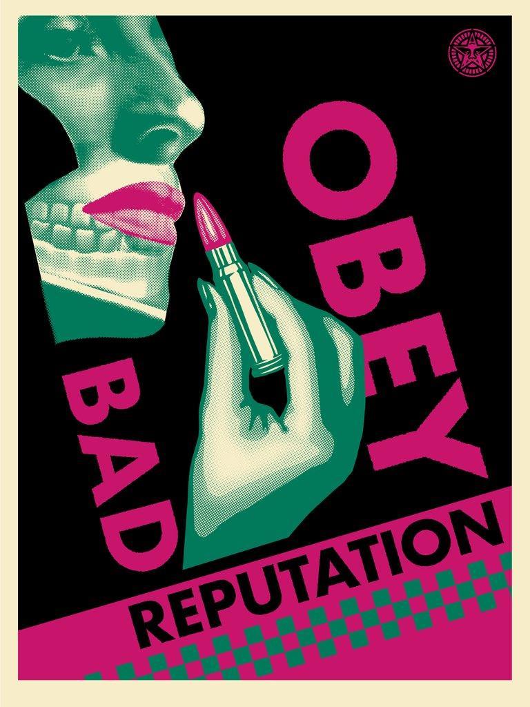 Bad Reputation (Black) - Original Handsigned Screen Print