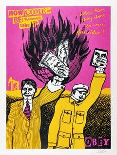 Be Reasonable, Shepard Fairey x Jamie Reid. Punk Rock Street Art Print
