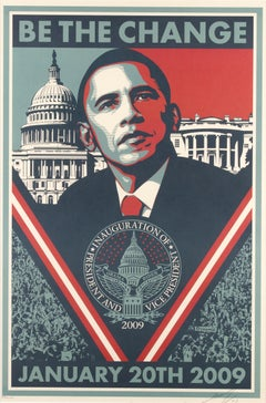 Be the Change - Screen Prints by Obey Giant (Shepard Fairey) - 2009