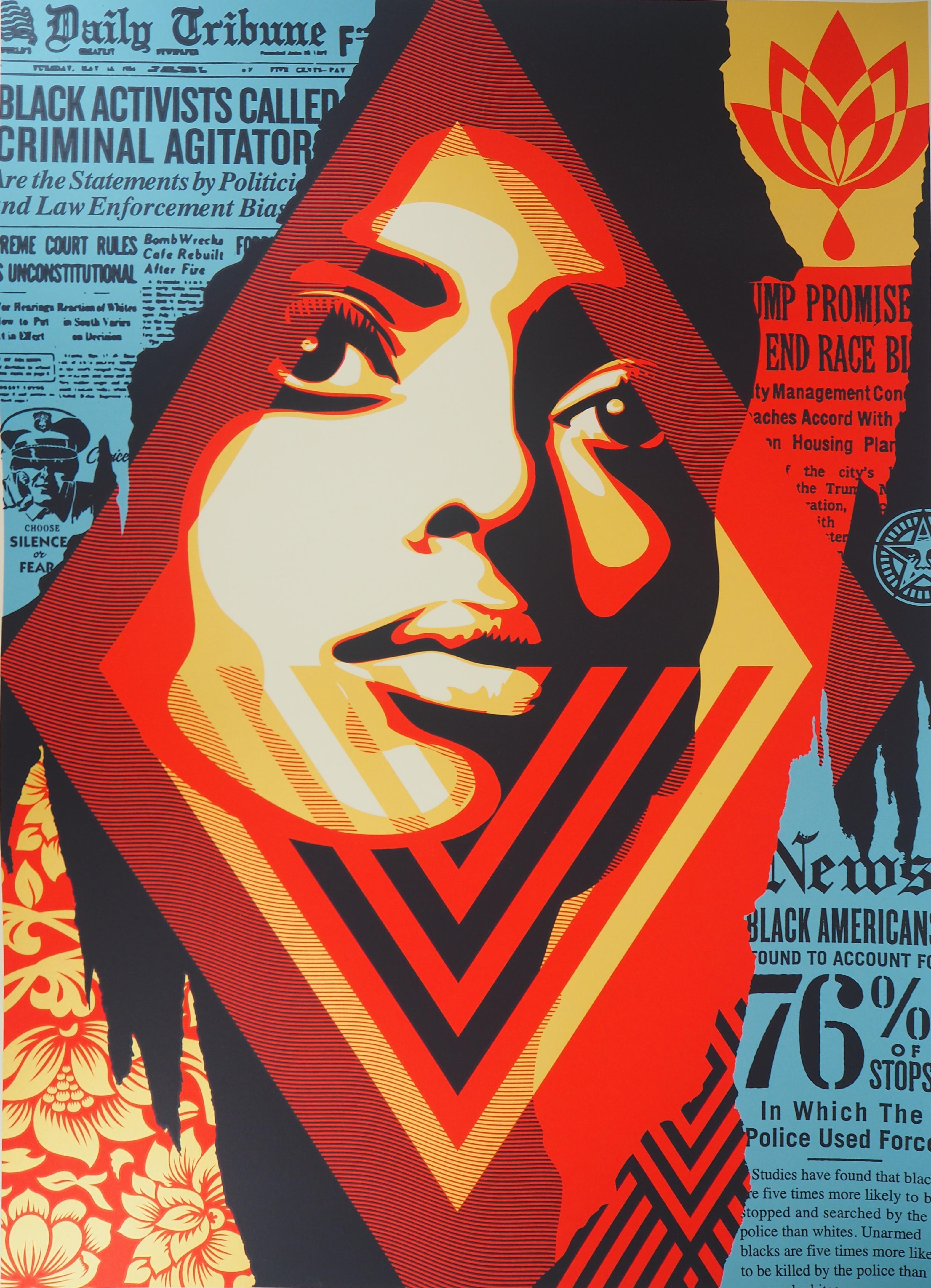 Black Lives Matter - Tall original screenprint signed & numbered /89