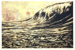 Black wave - Screenprint Handsigned