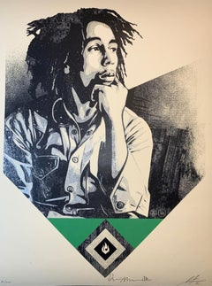Bob Marley X Shepard Fairey Print To Catch A Fire Dennis Morris Signed Music