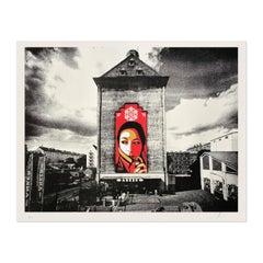 Commanda Vienna, Photogravure and Silkscreen, Street Art, Urban Art
