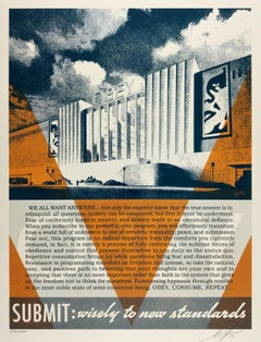 Conformity Factory Orange, Obey - Shepard Fairey Contemporary Street Art Print