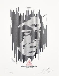 Decoding Disinformation Letterpress - Shepard Fairey Activism Street Art Print