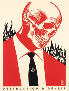 Destruction &Denial - Screen Prints by Obey Giant (Shepard Fairey) - 2017