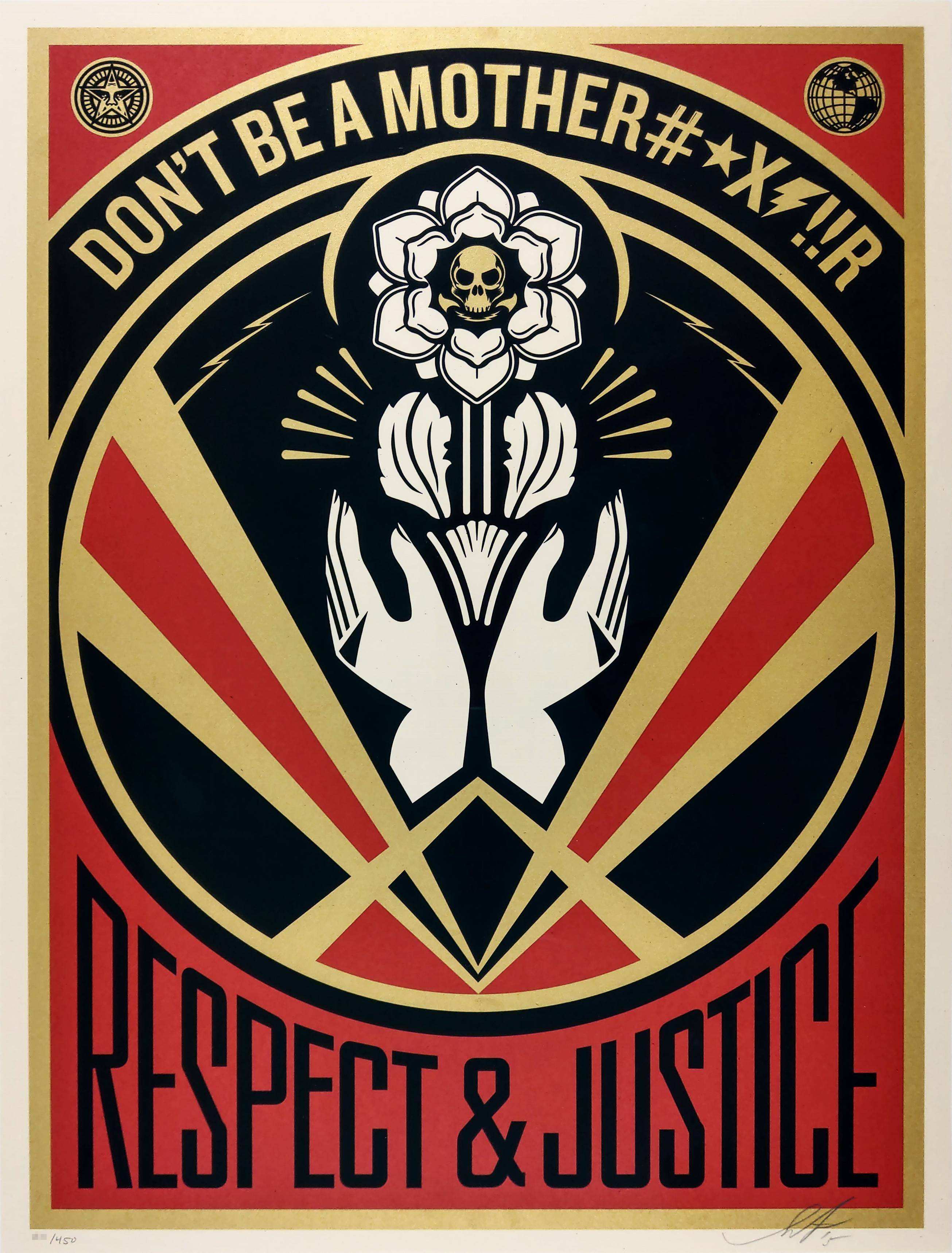 Liberte Egalite Shepard Fairey Art Print Cotton  Paper Contemporary