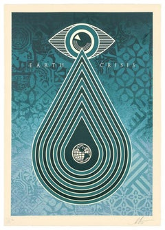 Ecology : Protect the Planet (Earth Crisis) - Tall screenprint signed & numbered
