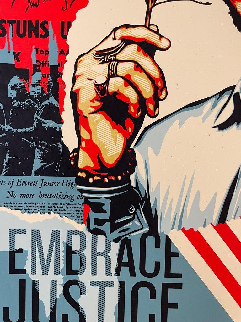 Embrace Justice Shepard Fairey Print Black Lives Matter Signed Numbered Pop Art For Sale 1