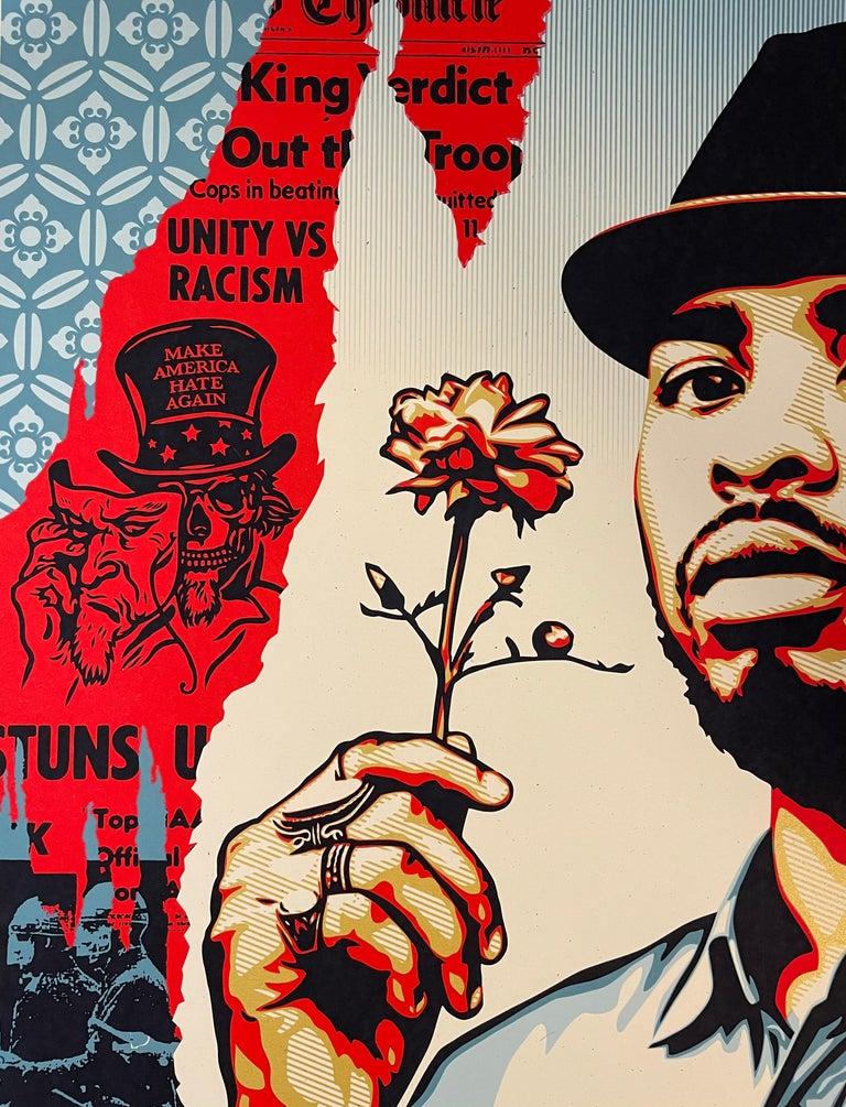 Embrace Justice Shepard Fairey Print Black Lives Matter Signed Numbered Pop Art For Sale 2