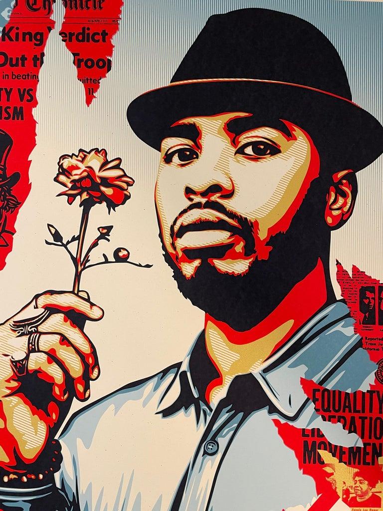 Embrace Justice Shepard Fairey Print Black Lives Matter Signed Numbered Pop Art For Sale 3