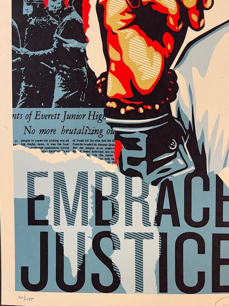Embrace Justice Shepard Fairey Print Black Lives Matter Signed Numbered Pop Art For Sale 6